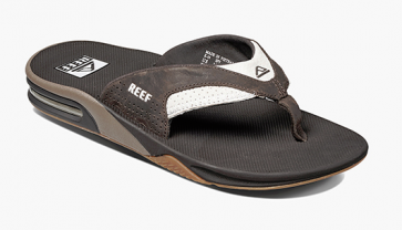REEF INFRADITO UOMO LEATHER FANNING WHITE/BROWN