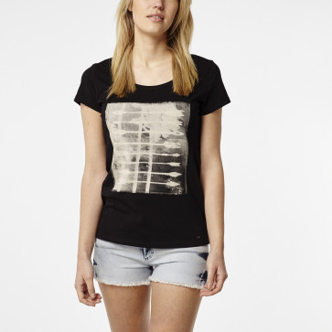O'NEILL T-SHIRT DONNA LW PLAYHOUSE BLACK OUT
