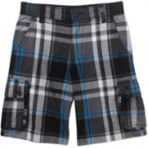 DC WALKSHORT BIMBO CARGO PLAID DARK SHADOW