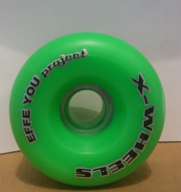 X-WHEELS RUOTE LONGBOARD EFFE YOU PROJECT 60 MM METAL CORE