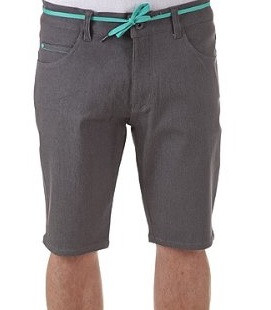 IRIEDAILY SHORTS UOMO SLIM SHOT DENIM CHARCOAL