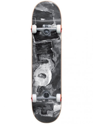ALMOST SKATEBOARD COMPLETO COLOR BLESS FP BLACK WHITE 8 ""