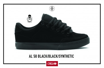 C1RCA SCARPE UOMO DONNA LOPEZ 50 BLACK/BLACK SYN