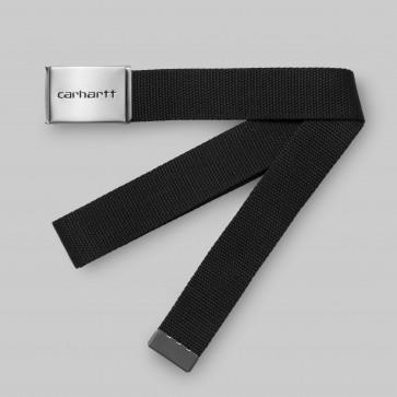CARHARTT CINTURA UOMO CLIP BELT CROME BLACK
