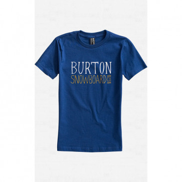 BURTON T-SHIRT BAMBINO BOYS BATTERY ROYAL