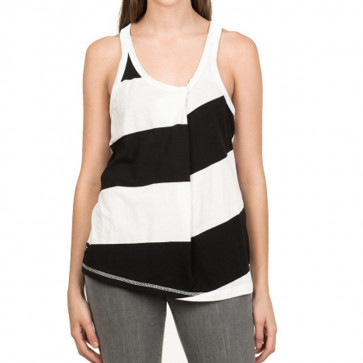 NIKITA TOP DONNA CONTRA TANK WHITE/BLACK