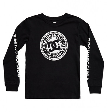 DC LONG SHIRT BAMBINO CIRCLE STAR BLACK