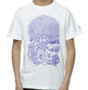 ELEMENT T-SHIRT BIMBO BREAK SS BOY WHITE