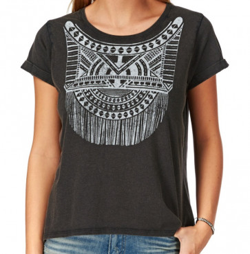 HURLEY T-SHIRT DONNA FRINGED
