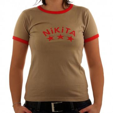 NIKITA T-SHIRT DONNA KIWI KAKI RED