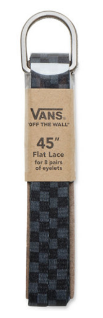 VANS LACCI BLACK CHARCOAL 45""