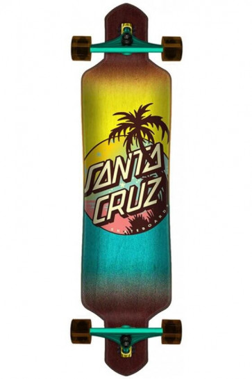 "SANTA CRUZ LONGBOARD PALM DOT 9,2"" X 41"" CRUZER DROP TRUE"