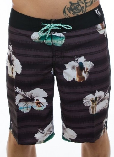 "REEF BOARDSHORT UOMO TROPIC 21"" BLACK"