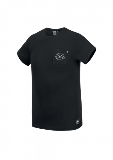 PICTURE T-SHIRT UOMO WASTED POCKET BLACK
