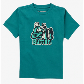 BURTON T-SHIRT BAMBINO TODDLER TEE GREEN BLUE SLATE