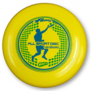 WHAM-O FRISBEE DISC ALL SPORT YELLOW 140 GRAMMI