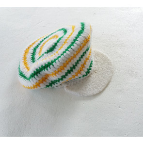 NIKITA BERRETTO BEANIE GATEFUL DREAD BEANIE WHITE/AMAZON/YELLOW
