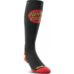 THIRTYTWO CALZE UOMO PERFORMANCE BLEND SANTA CRUZ SOCKS BLACK