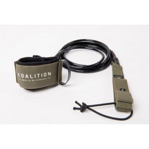 KOALITION LEASH 7' X 7 MM ARMY GREEN / BLACK CORD – REGULAR