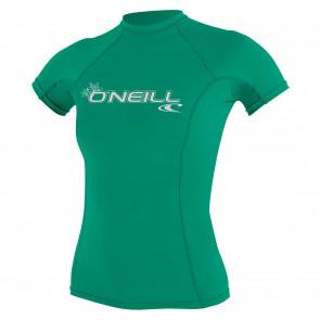 O'NEILL LICRA DONNA WOMENS BASIC SKINS S/S CREW SEAGLASS