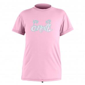 O'NEILL LICRA BAMBINO GIRLS TODDLER SKINS S/S RASH TEE PINK