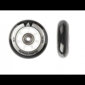 ROLLERBLADE PATTINI IN-LINEA RUOTE WHEELS KIT 72mm/80A (8 PEZZI) CUSCINETTI SG5