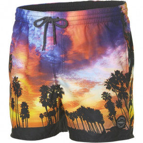 O'NEILL BOARDSHORT UOMO PM MID VERT PHOTO ART SHORTS RED AOP
