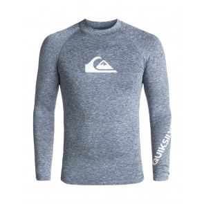 QUIKSILVER LICRA UOMO ALL TIME LS DARK DENIM HEATHER