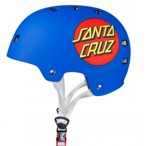 BULLET X SANTA CRUZ CASCO CLASSIC DOT MATT BLUE