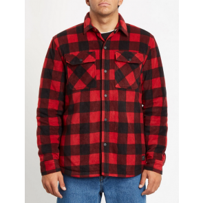 VOLCOM CAMICIA UOMO BOWER POLAR FLEECE RIO RED