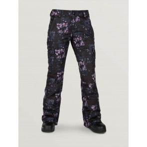 VOLCOM PANTALONE SNOWBOARD DONNA BRIDGER INSULATED PANT BLACK FLORAL PRINT