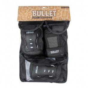 BULLET TRIPLE PADSET BLAST V2 JUNIOR BLACK WHITE
