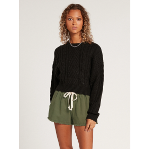 VOLCOM MAGLIA DONNA CABLED BABE SWEATER BLACK