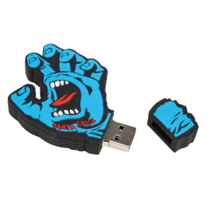 SANTA CRUZ  ACCESSORIES SCREAMING HAND MEMORY STICK BLUE