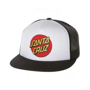 SANTA CRUZ CAPPELLINO BOYS CLASSIC DOT CAP WHITE/BLACK