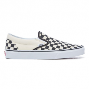 VANS SCARPE UOMO CLASSIC SLIP ON BLACK AND WHITE CHECKER