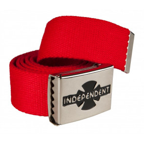 INDEPENDENT CINTURA UOMO CLIPPED BELT RED