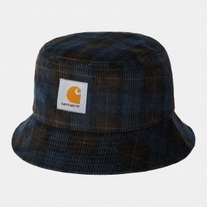 CARHARTT WIP CAPPELLO PESCATORE CORD BUCKET HAT BRECK CHECK PRINT