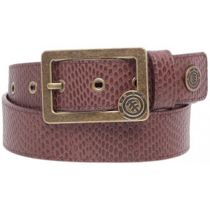 ELEMENT CINTURA UOMO COUNTER LEATHER BELT CHOCOLATE