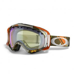 OAKLEY MASCHERA SNOWBOARD CROWBAR OLIVE ORANGE PLAID HI YELLOW