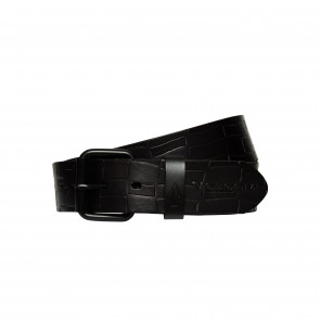 VOLCOM CINTURA UOMO STONE MB LEATHER BELT BLACK