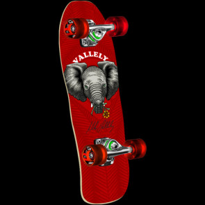 """POWELL PERALTA LONGBOARD CRUISER COMPLETO MINI VALLELY ELEPHANT BABY 8,0 """" RED"""