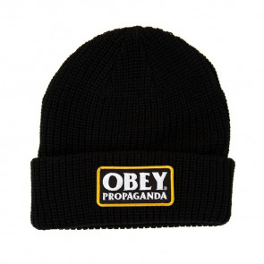 OBEY BERRETTO BEANIE UOMO/DONNA DAMAGED BEANIE BLACK