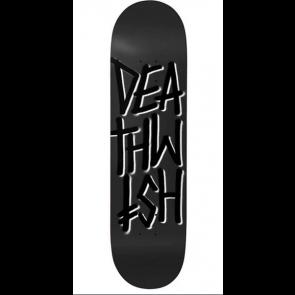 "DEATHWISH TAVOLA SKATEBOARD DEATHSTACK BLACK BLACK 8.475"""