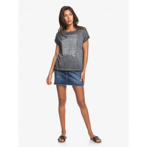 ROXY T-SHIRT DONNA REAL SUMMERTIME HAPPINESS ANTRACITE