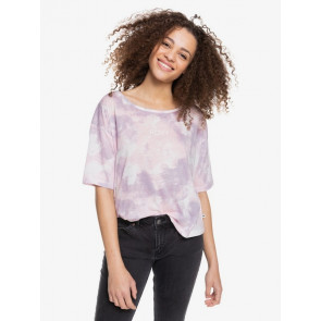 ROXY T-SHIRT DONNA REAL SUNNY ORCHID PETAL FLY TIME
