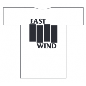 EAST WIND T-SHIRT UOMO BLACK FLAG WHITE