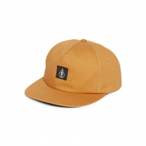 VOLCOM CAPPELLINO SNAPBACK VOLCOM X GIRL SKATEBOARDS HAT SAND BROWN