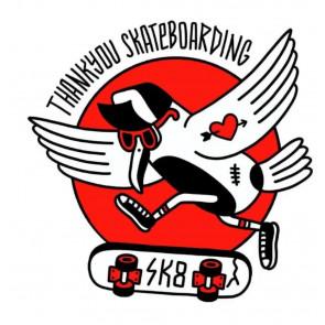 ASD THANKYOUSKATEBOARDING T-SHIRT UOMO HELLSANDRO BLK