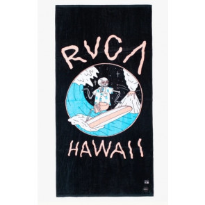 RVCA TELO MARE  LUKE P SURF TOWEL BLACK